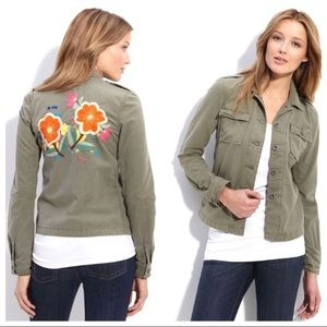 Lucky Brand Embroidered Floral Surplus Jacket